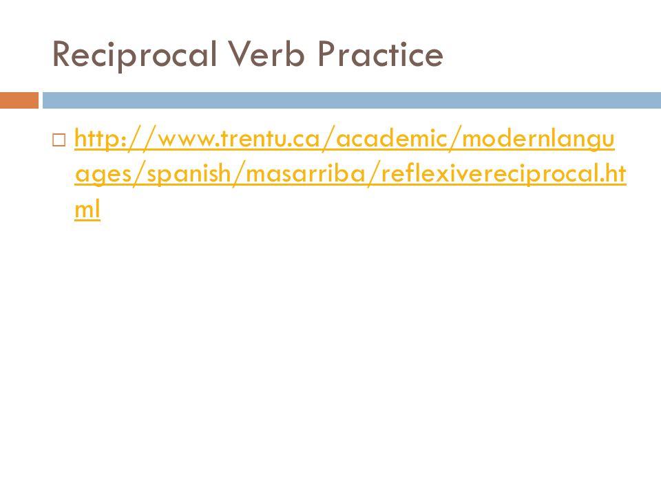 Reciprocal Verb Practice