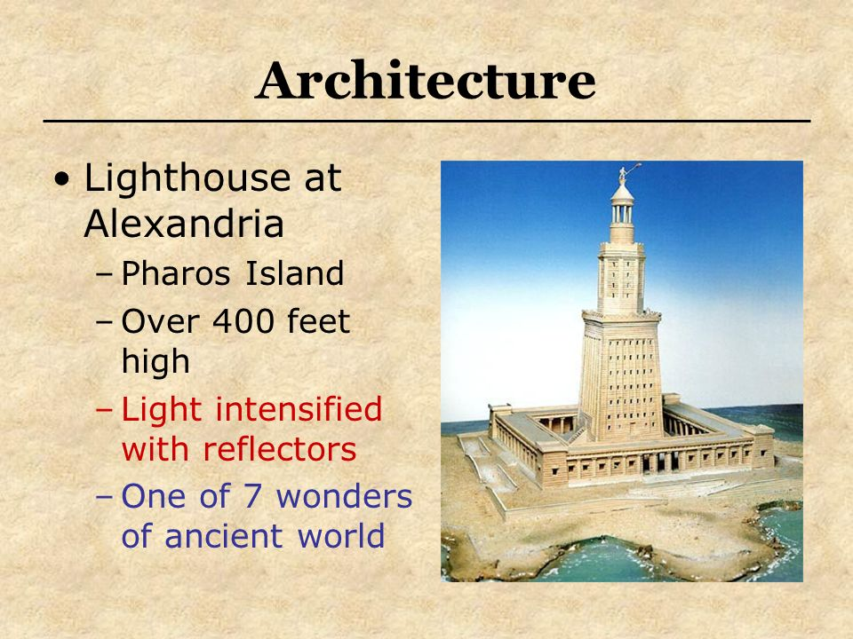 Architecture Lighthouse at Alexandria Pharos Island Over 400 feet high