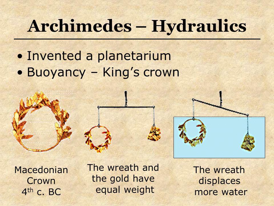 Archimedes – Hydraulics