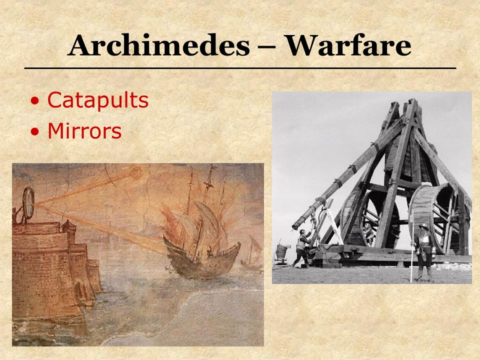 Archimedes – Warfare Catapults Mirrors