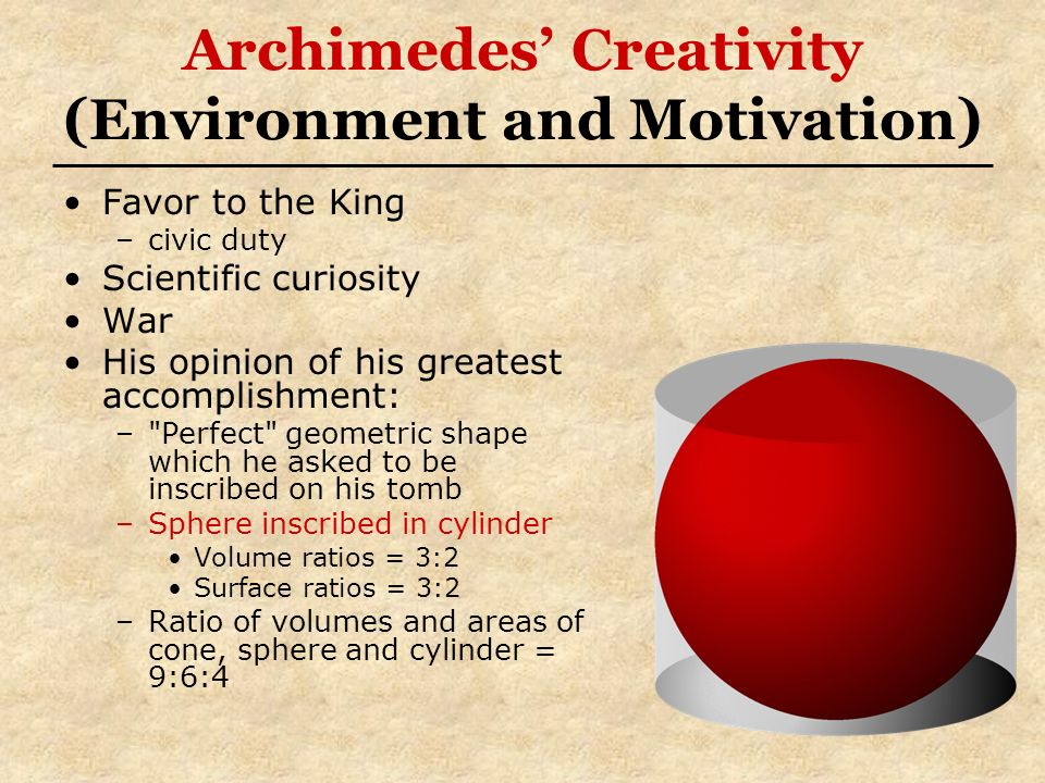 Archimedes' Creativity (Environment and Motivation)