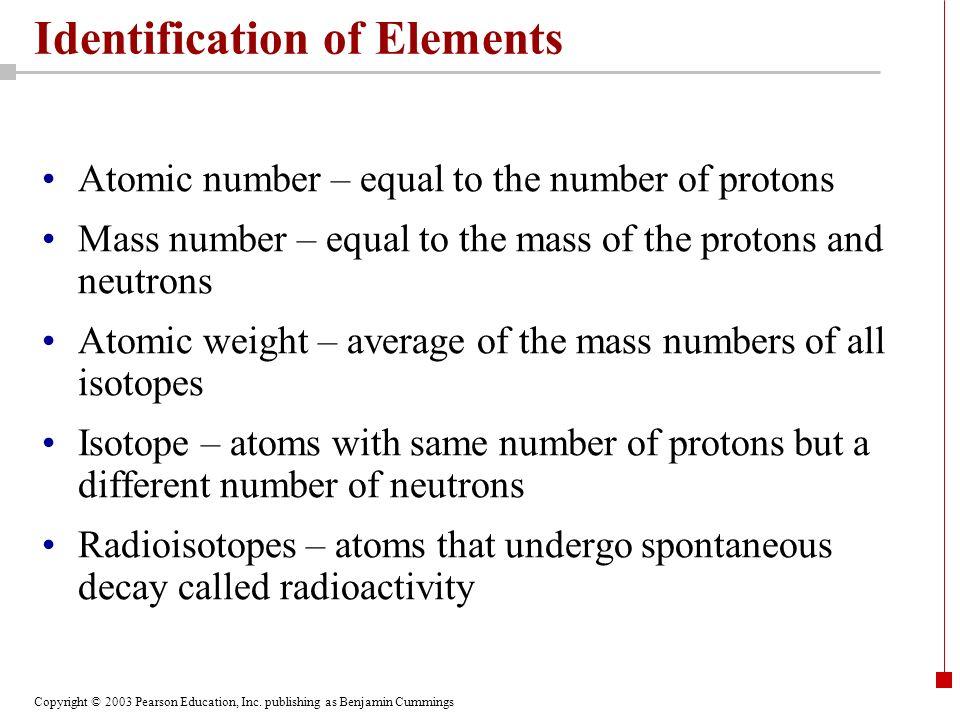 Identification of Elements