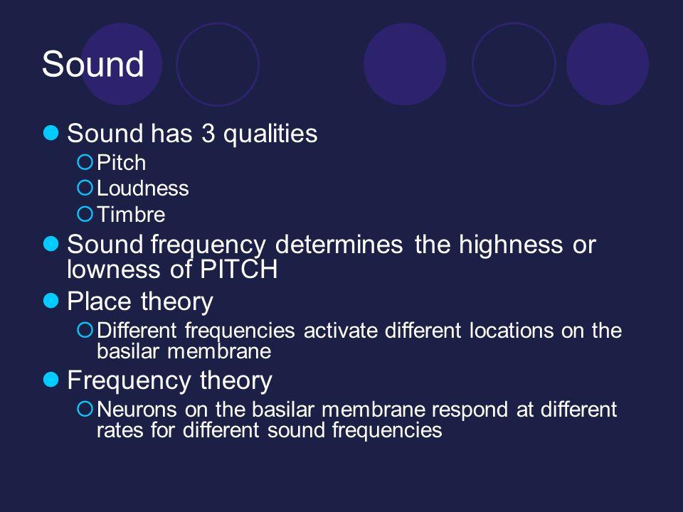Sound Sound has 3 qualities