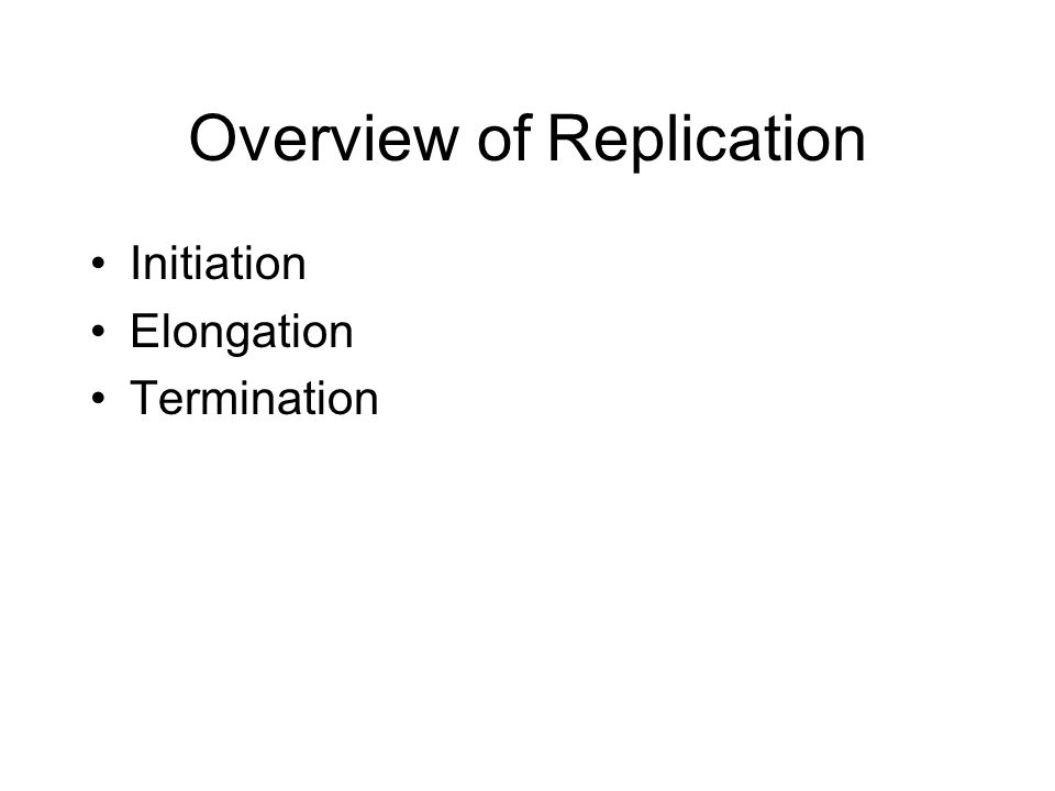 Overview of Replication