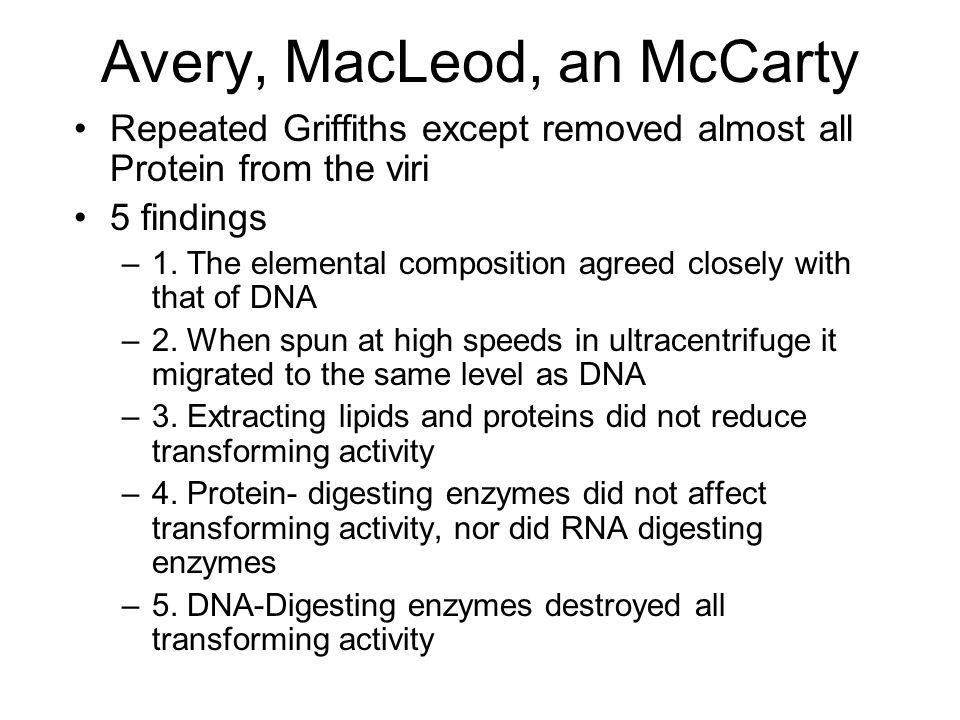 Avery, MacLeod, an McCarty