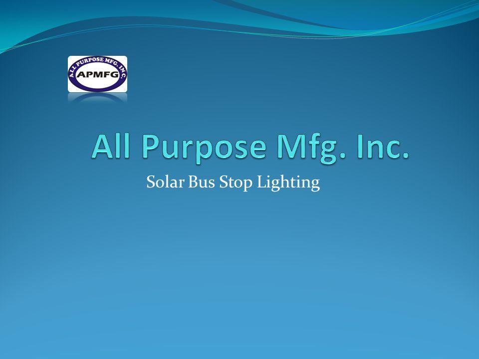 Solar Bus Stop Lighting