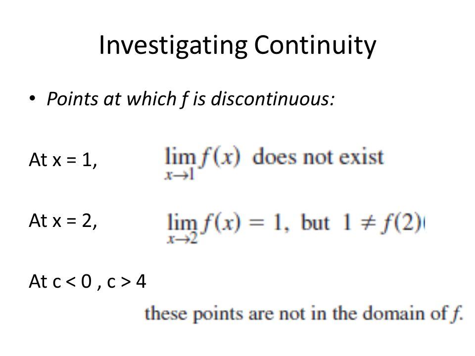 Investigating Continuity