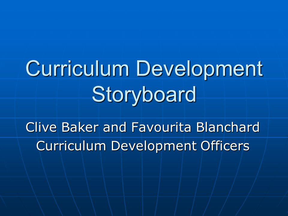 Curriculum Development Storyboard