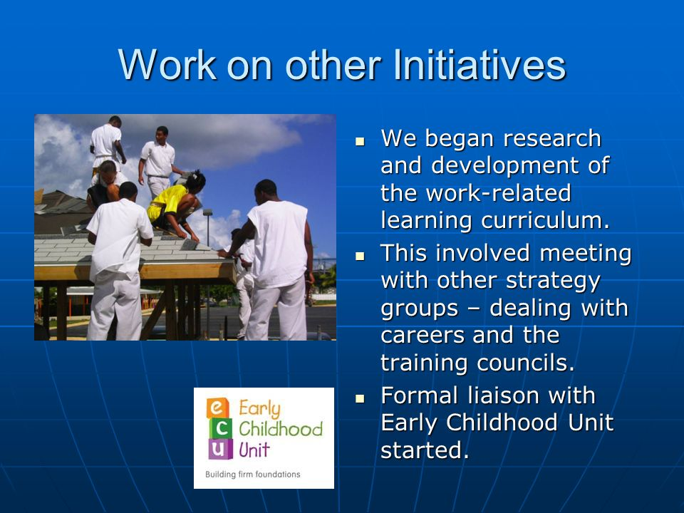 Work on other Initiatives