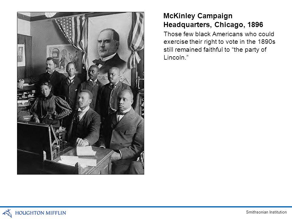 McKinley Campaign Headquarters, Chicago, 1896