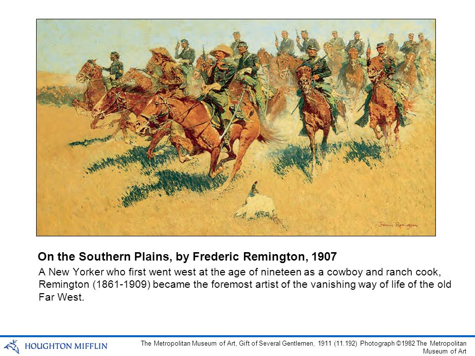 On the Southern Plains, by Frederic Remington, 1907