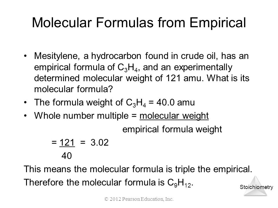 Molecular Formulas from Empirical