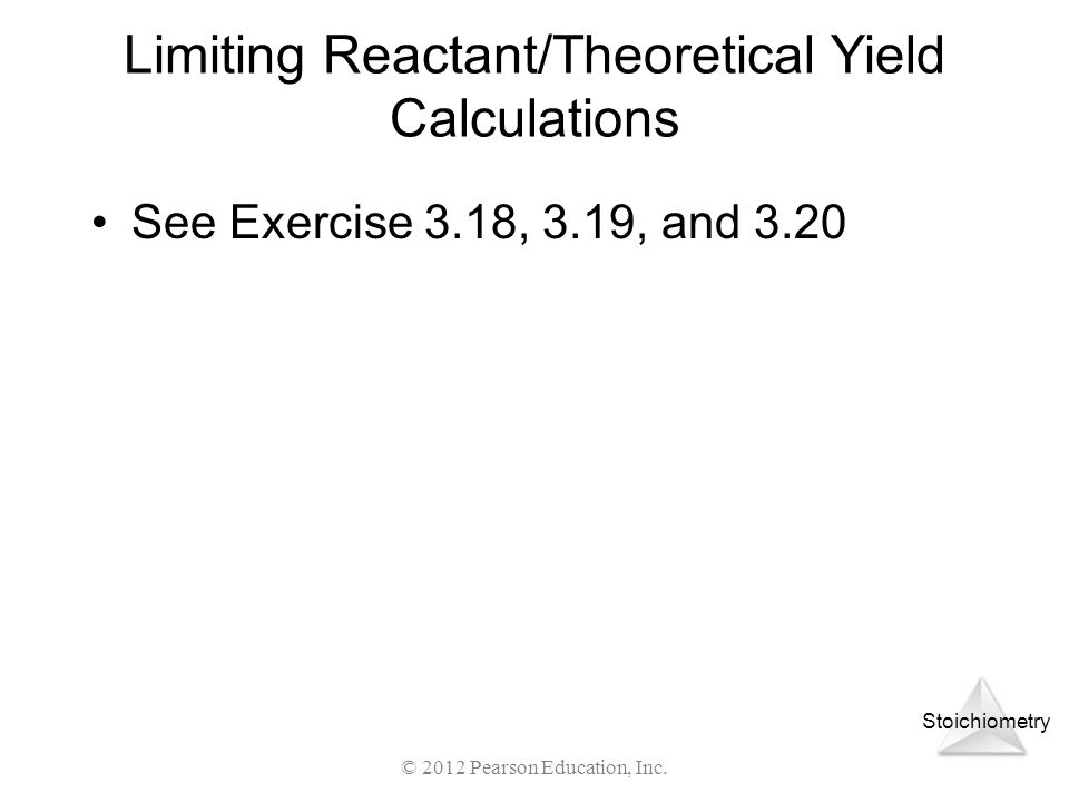 Limiting Reactant/Theoretical Yield Calculations
