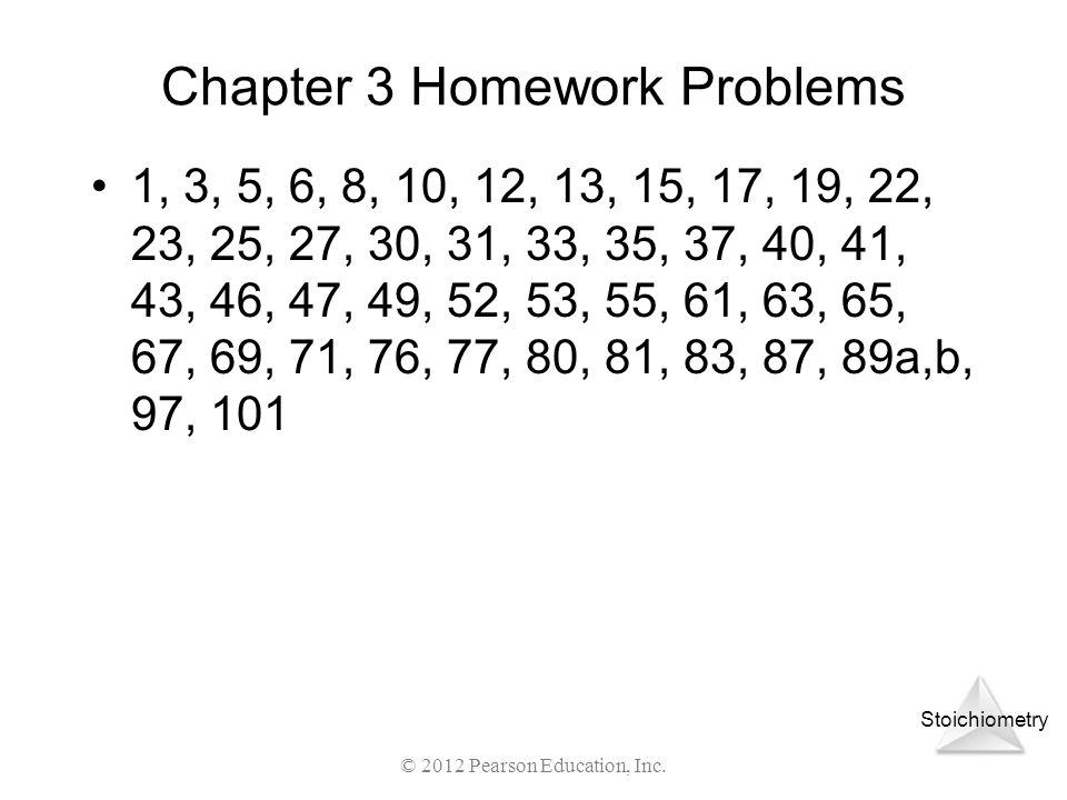 Chapter 3 Homework Problems