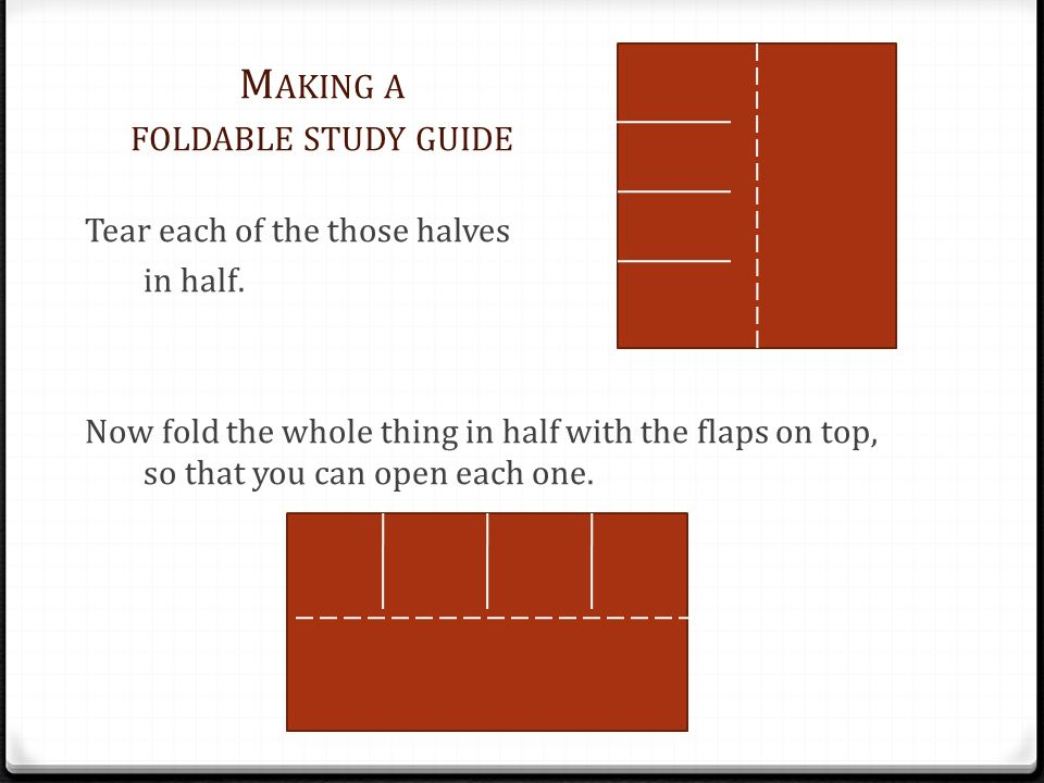 Making a foldable study guide