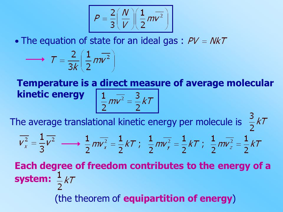 Temperature is a direct measure of average molecular kinetic energy