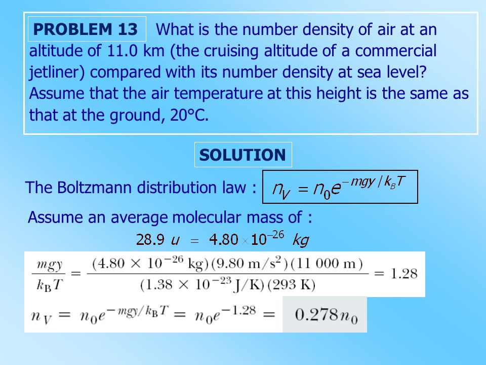 What is the number density of air at an