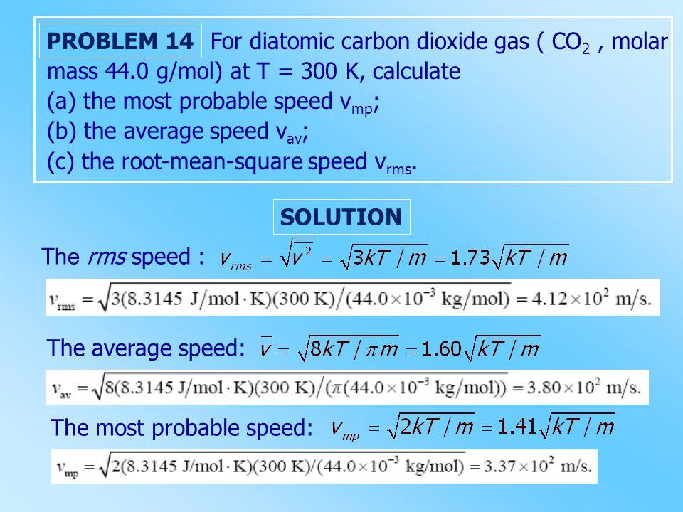 For diatomic carbon dioxide gas ( CO2 , molar