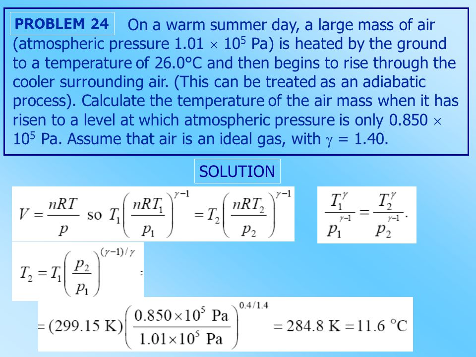 On a warm summer day, a large mass of air