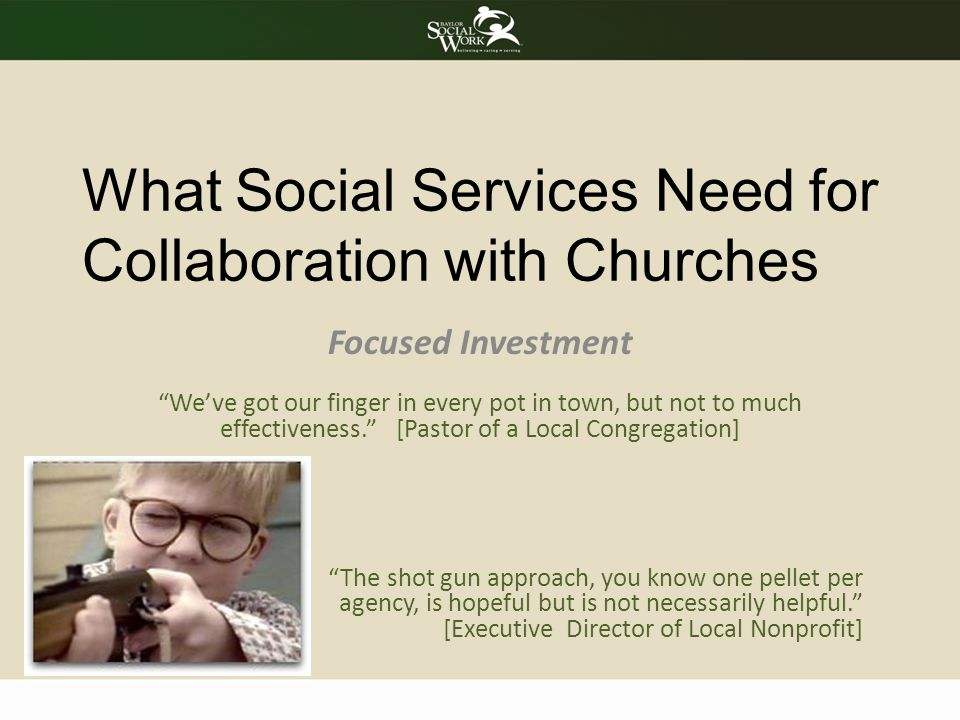 What Social Services Need for Collaboration with Churches
