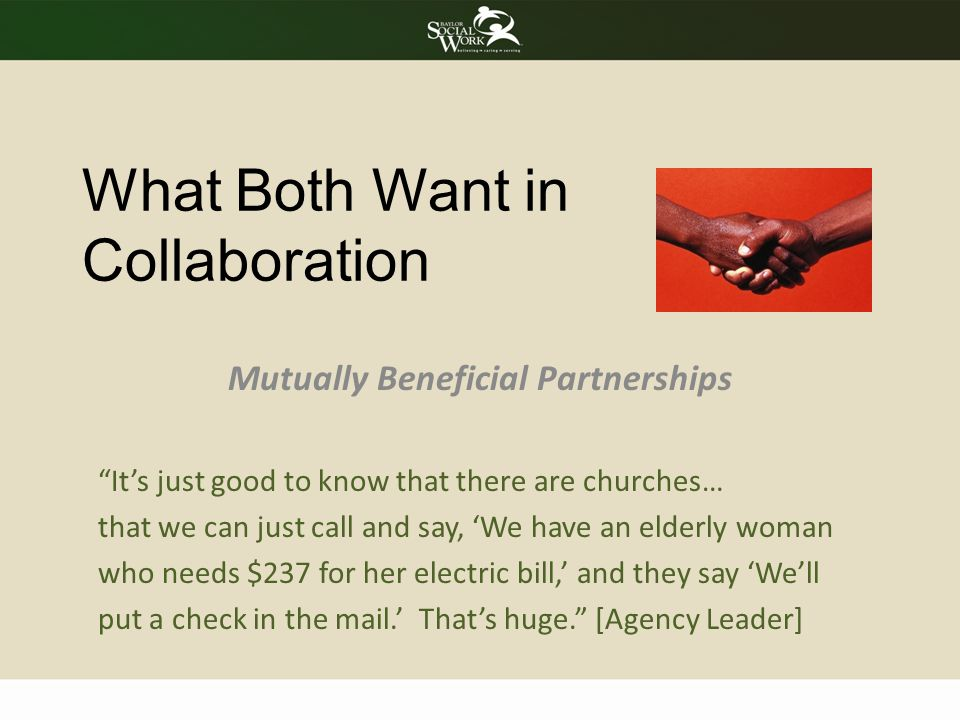 What Both Want in Collaboration