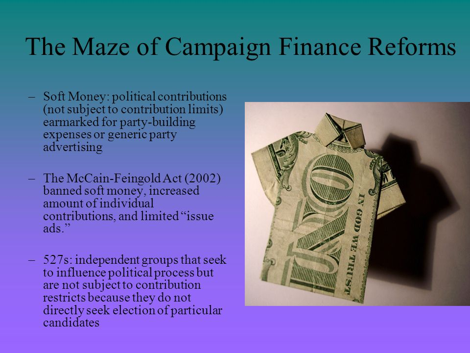 The Maze of Campaign Finance Reforms