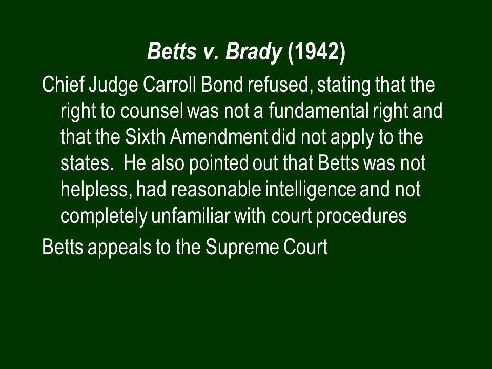 Betts v. Brady (1942)