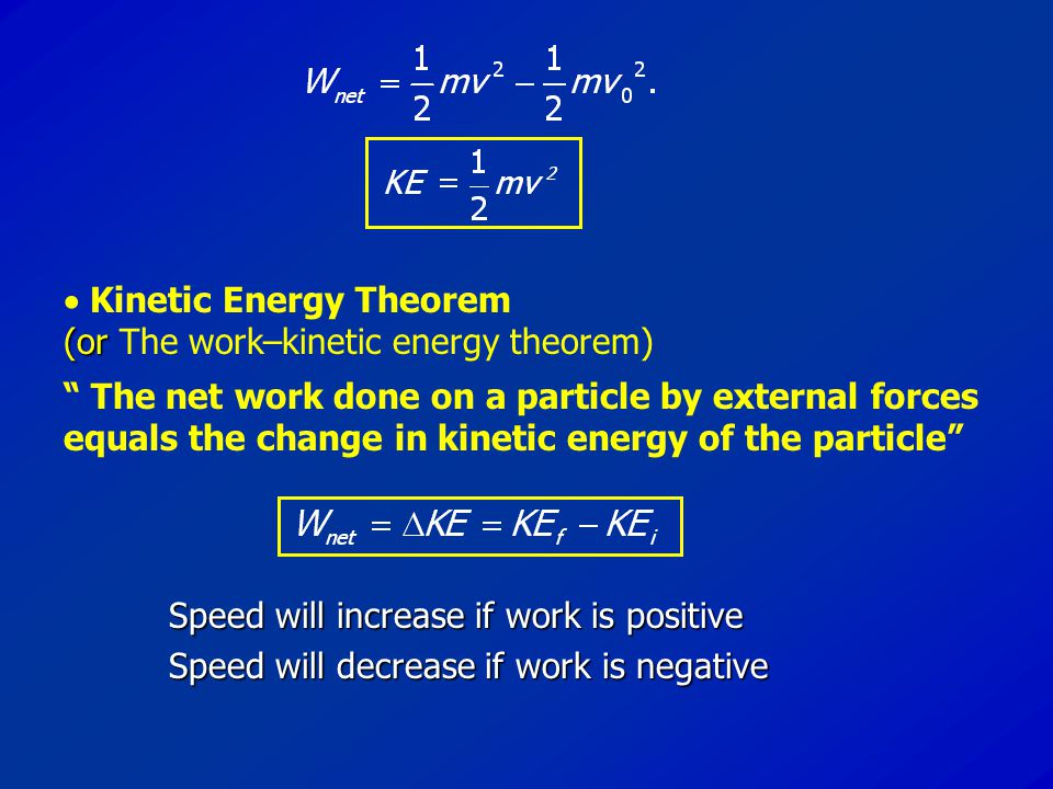  Kinetic Energy Theorem