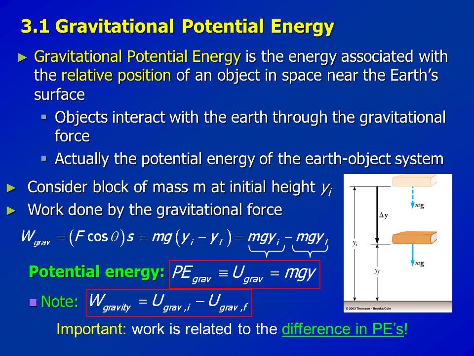 3.1 Gravitational Potential Energy