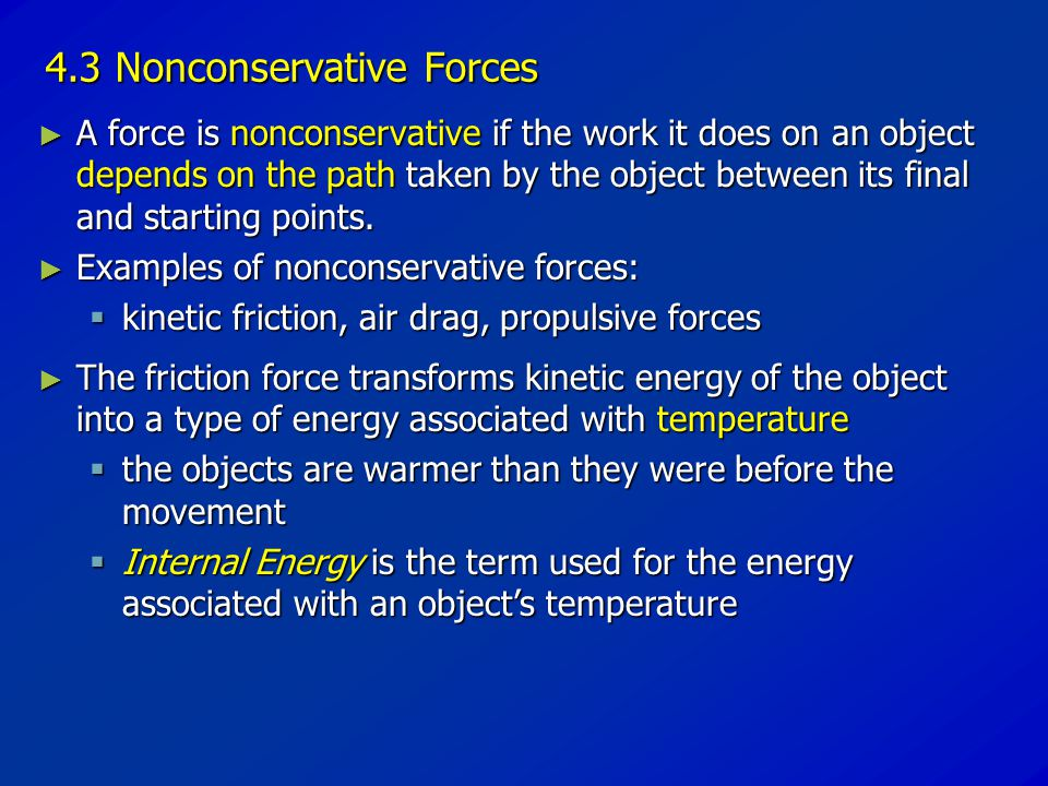 4.3 Nonconservative Forces
