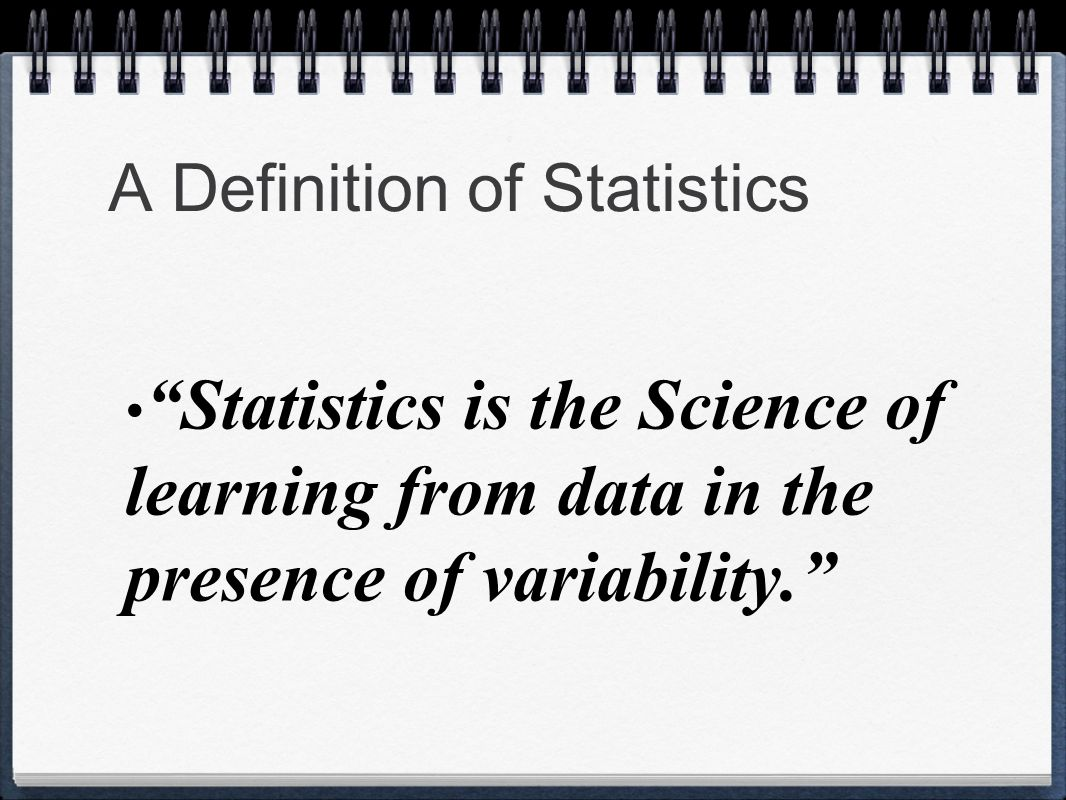 A Definition of Statistics
