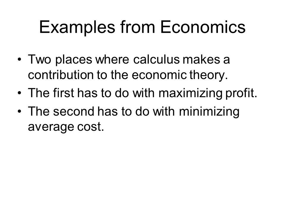 Examples from Economics