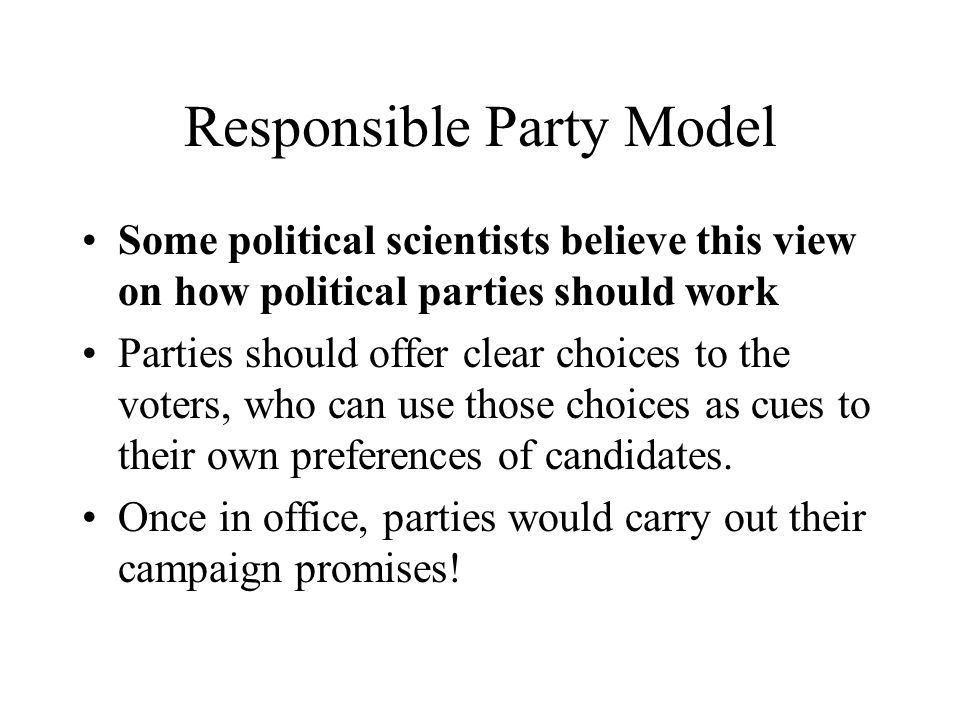 Responsible Party Model
