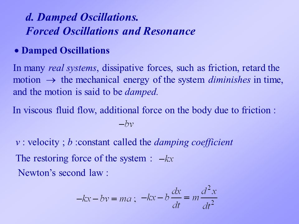 Forced Oscillations and Resonance