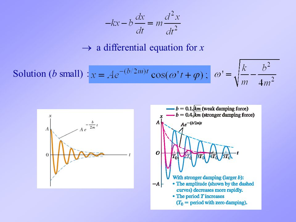  a differential equation for x
