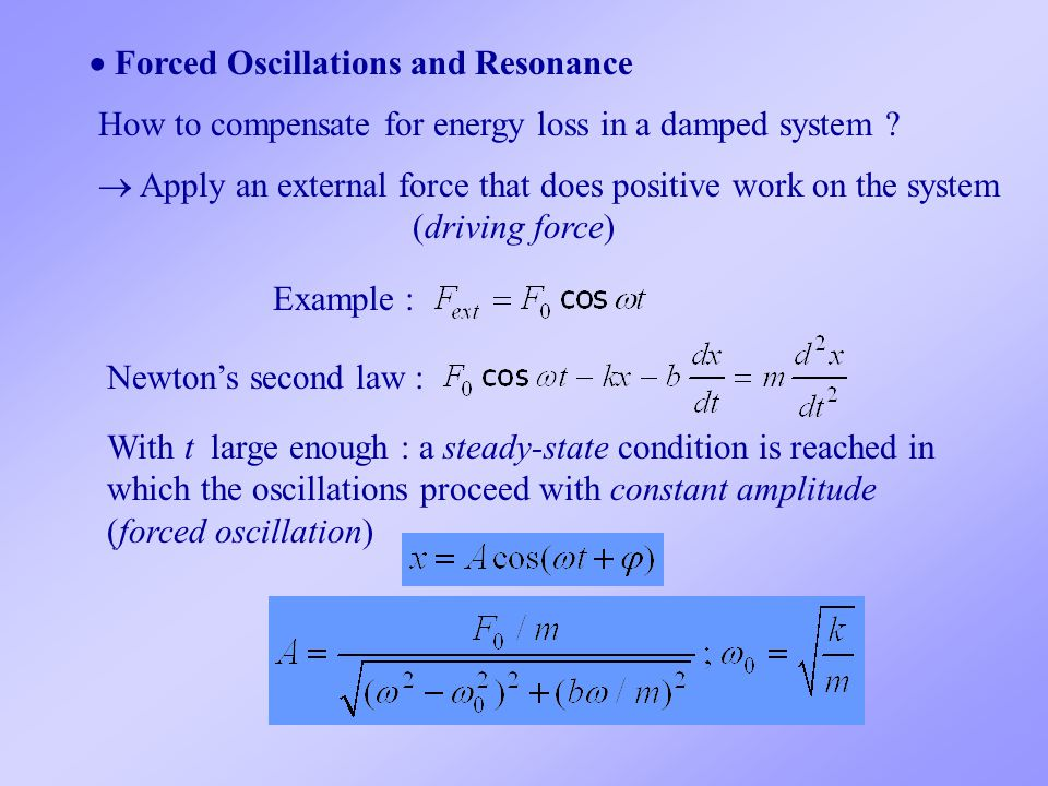  Forced Oscillations and Resonance