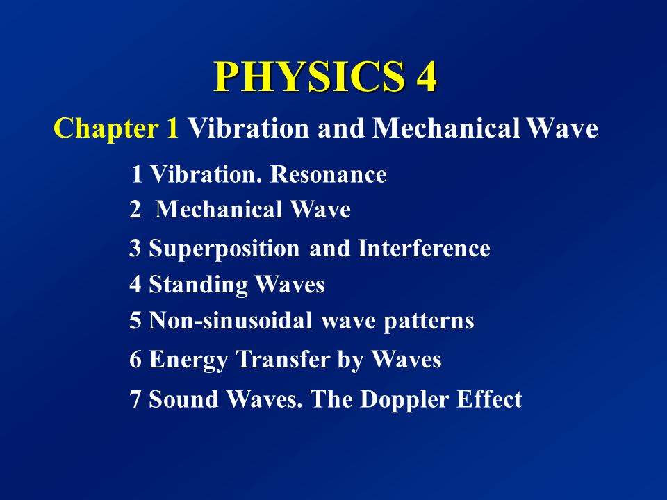 Chapter 1 Vibration and Mechanical Wave