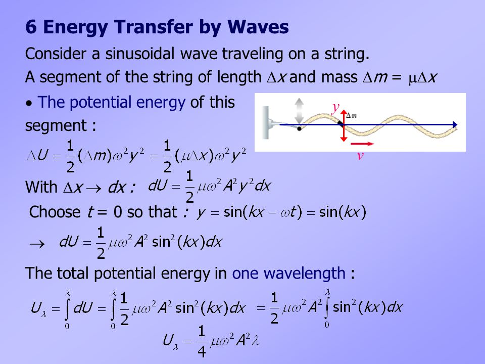 6 Energy Transfer by Waves