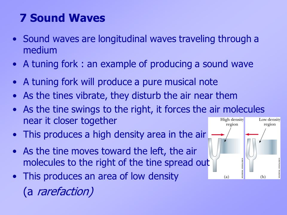 7 Sound Waves (a rarefaction)