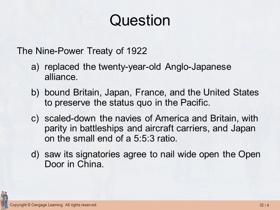 Question The Nine-Power Treaty of 1922