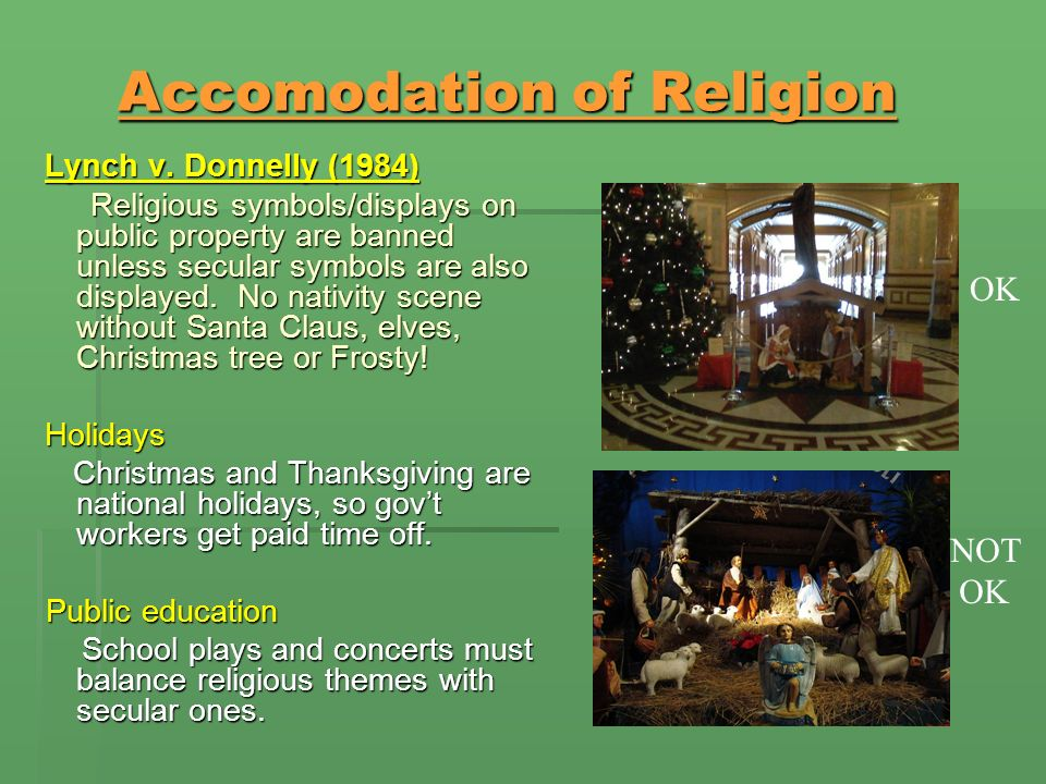 Accomodation of Religion