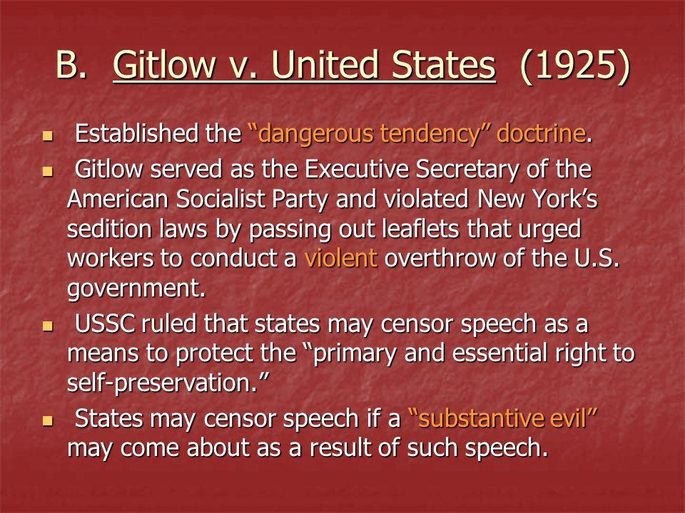 B. Gitlow v. United States (1925)