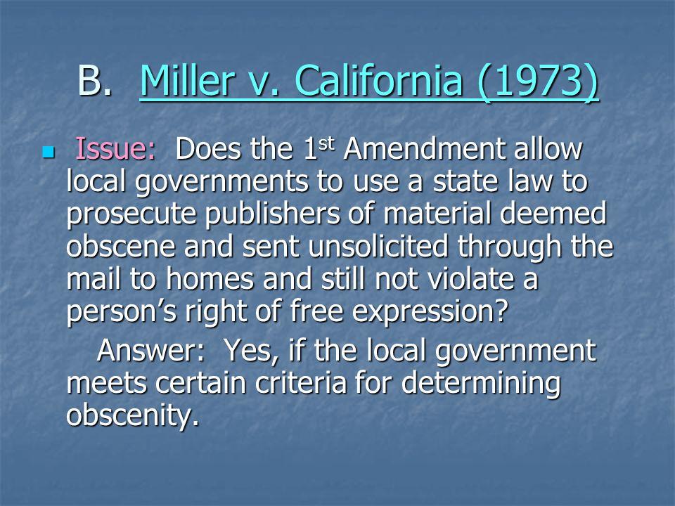 B. Miller v. California (1973)