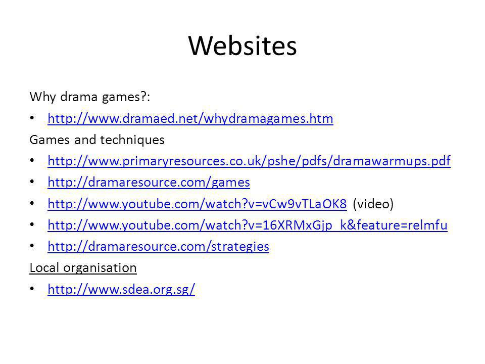 Websites Why drama games :