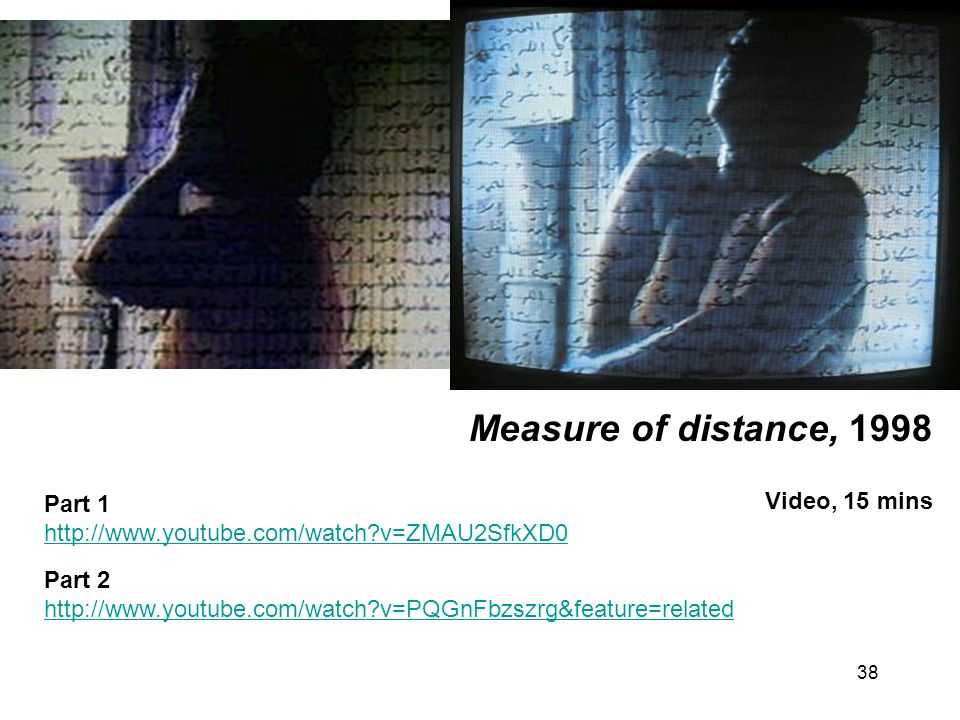 Measure of distance, 1998 Video, 15 mins Part 1