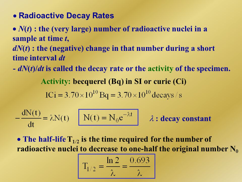  Radioactive Decay Rates