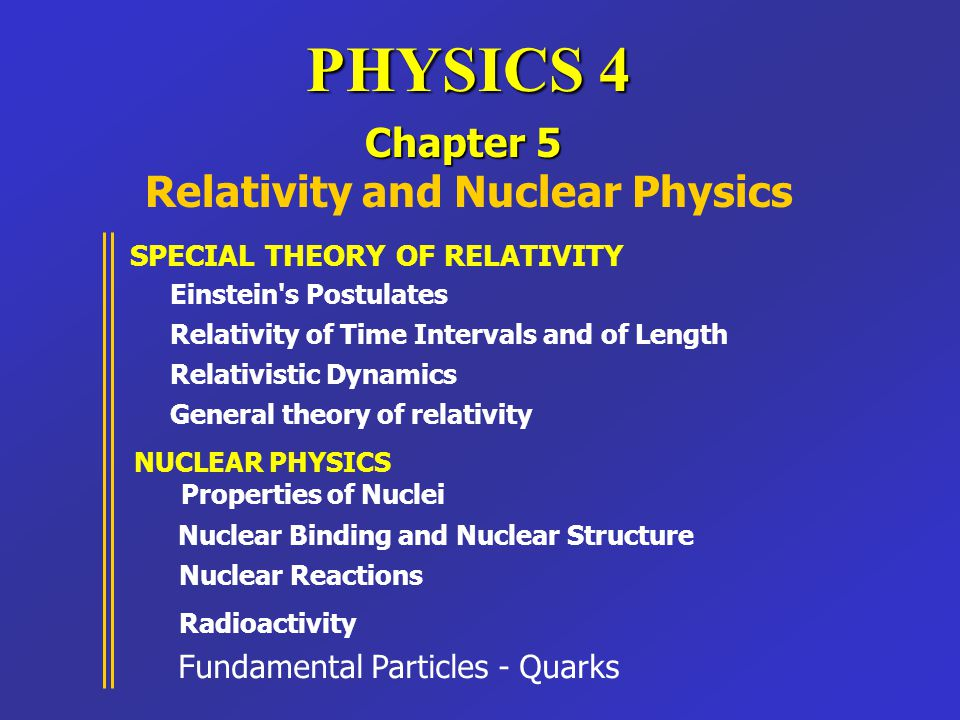 Relativity and Nuclear Physics