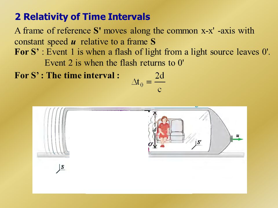 2 Relativity of Time Intervals