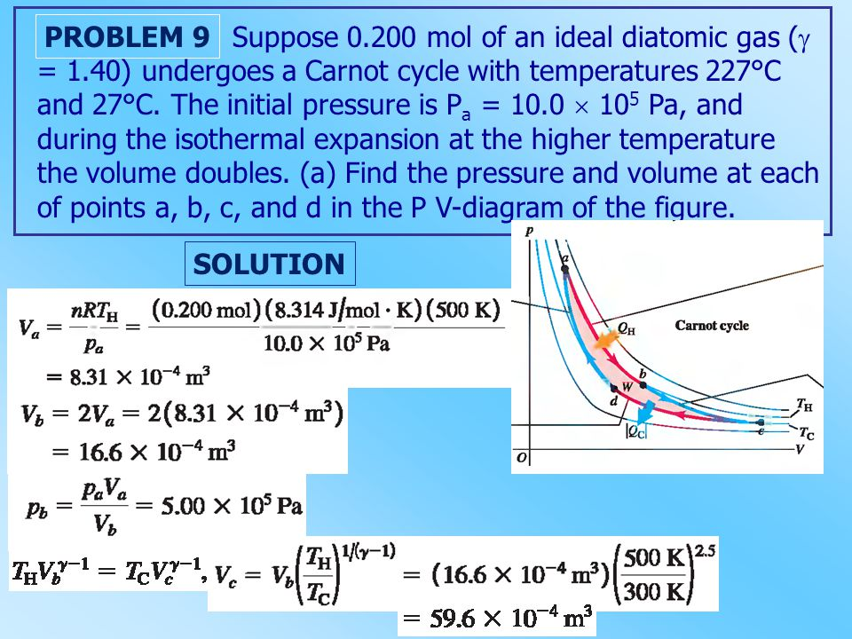 Suppose 0.200 mol of an ideal diatomic gas (