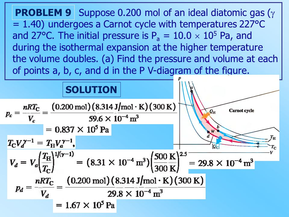 Suppose 0.200 mol of an ideal diatomic gas (